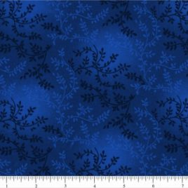 108″ Darker Blue Leaves
