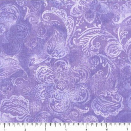 108quiltbackings light purple flowers burst