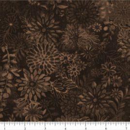 108″ Dark Brown Flower Bursts