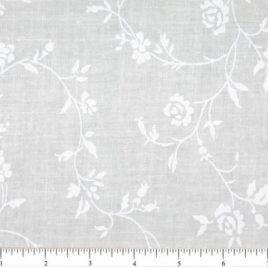 108″ Large White Design on Cream