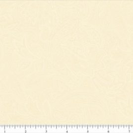 108″ White/Cream Paisley