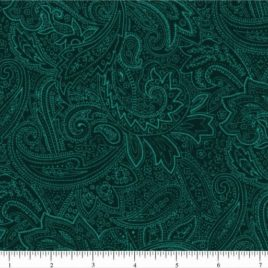 108″ Ocean Green Paisley