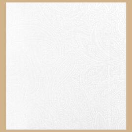 108″ White Paisley