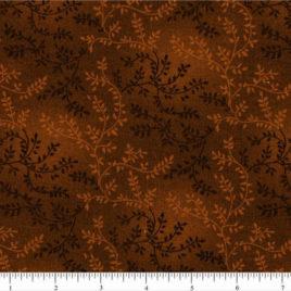 108″ Chocolate Brown Leaves