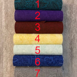 5″ by 108″ Strips of Paisley Fabric