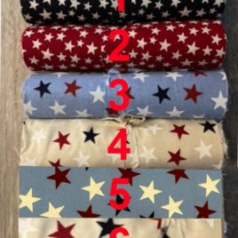 5″ by 108″ Strips of Stars Fabric
