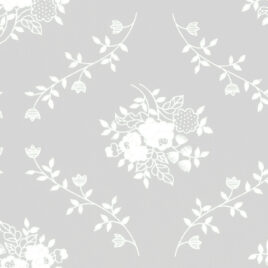 108″ White on Cream Circling Vines