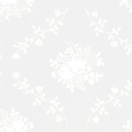 108″ White on White Circling Vines