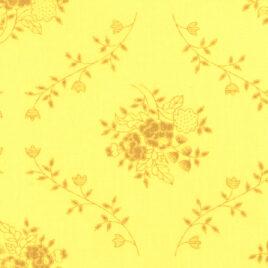 108″ Light Yellow Circling Vines