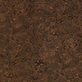 108″ Dark Brown Paisley