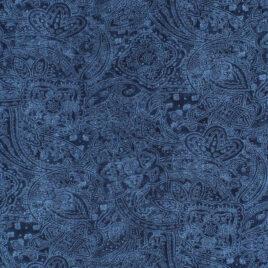 108″ Darker Blue Paisley