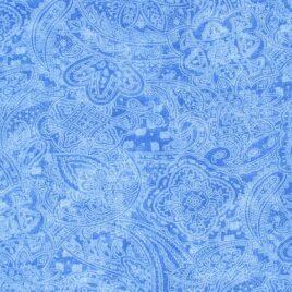 108″ Medium Blue Paisley